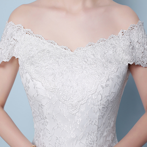Image 5 - משלוח חינם חדש מכירה לוהטת אלגנטית יפה תחרה פרחי בת ים שמלות כלה Vestidos דה noiva robe de mariage כלה שמלה