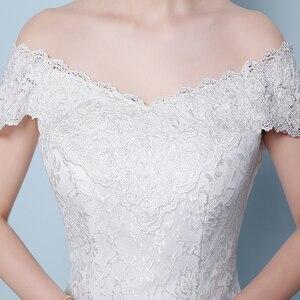 Image 5 - Miễn Phí Vận Chuyển Mới Bán Thanh Lịch Đẹp Ren Hoa Nàng Tiên Cá Váy Áo Vestidos De Noiva Áo Dây De Mariage Đầm Cô Dâu