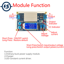 12A Step Down Module Verstelbare Buck Power Supply Board Met Digitale Lcd Display Buck Adapter Module Converter DC DC