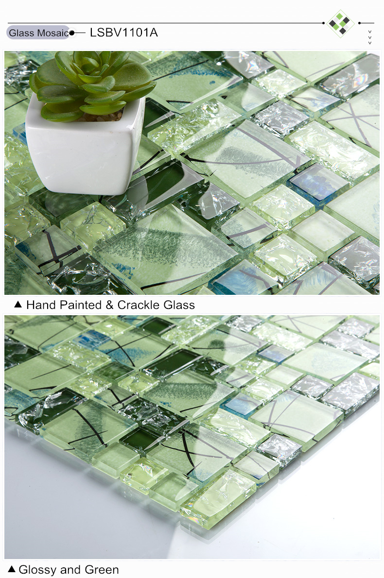 Online kopen wholesale groene keuken backsplash uit china groene ...