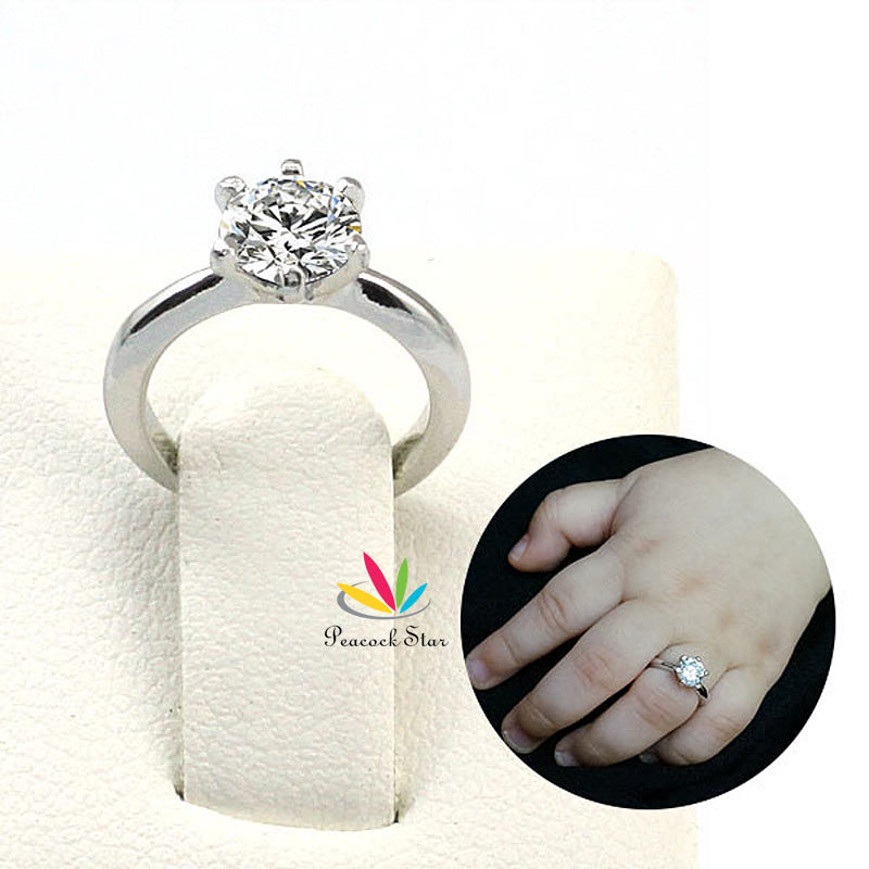 Peacock Star Newborn Baby Gift Solid 925 Sterling Silver Ring (Precious Metal) Photo Prop CFR8206