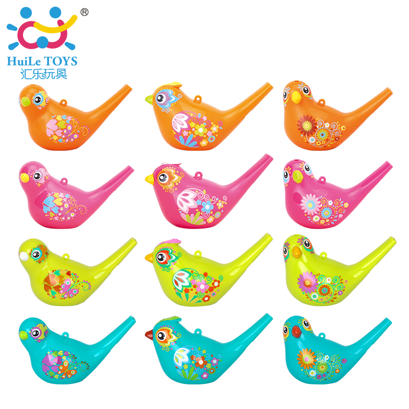 12pcs/Lot Wholesale Baby Toys Creative Painting Bird Whistle Wind Instrument Infant Early Childhood Educational Musical Toy children early education drum music educational instrument combination 5 joy woolly waist drum hand bell trumpet baby