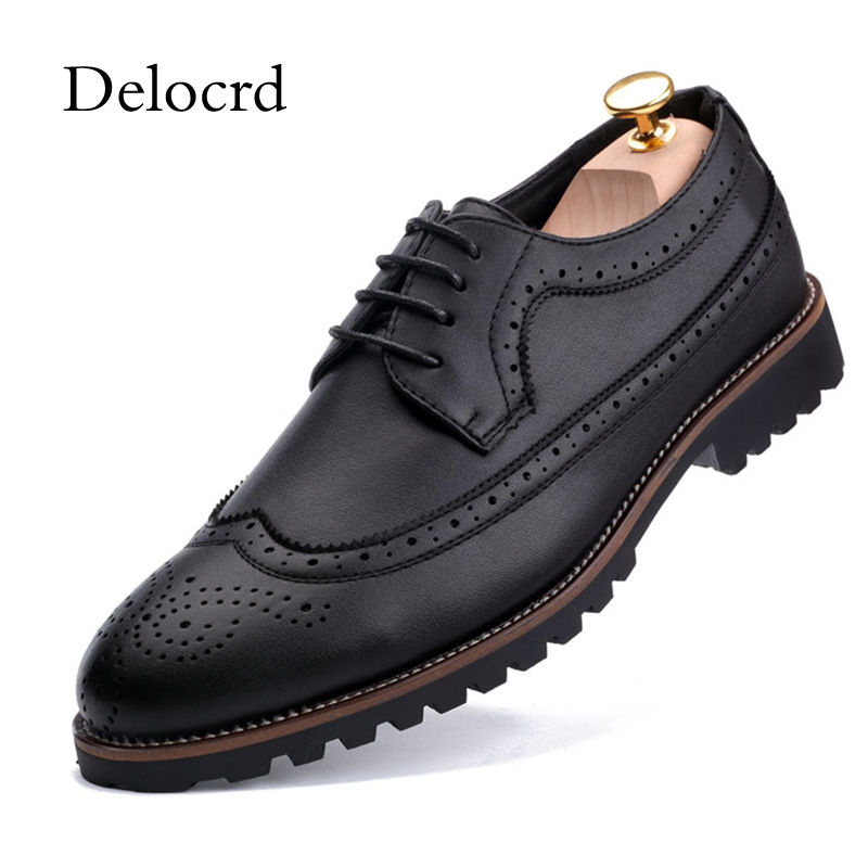 PU Leather Oxford Shoes