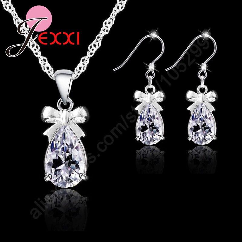 Drop Bow Tie Jewelry Set...