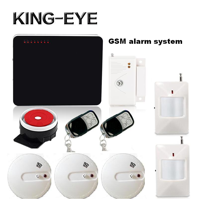 Wireless English Russian Spanish voice call smsGSM alarm systems for home security heat smoke sensor fire detector pir motion разговорник для англоговорящих english russian phrase book