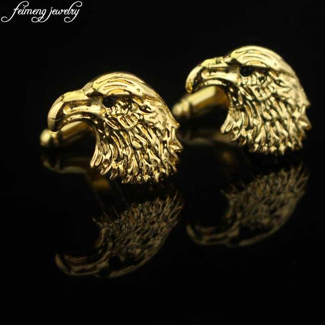 Aliexpress.com : Buy Eagle Cufflinks Novelty Personality Silver Gold ...