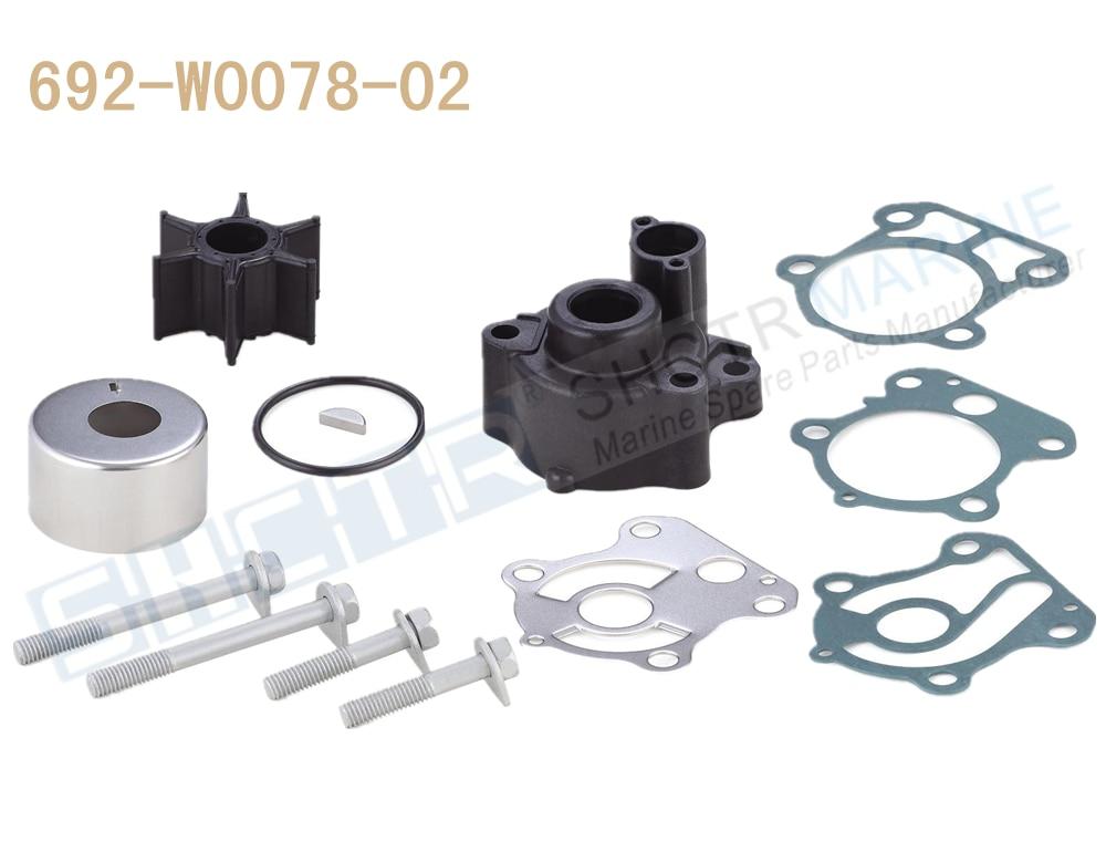 SHCTR Water Pump & Impeller Kit For OEM 692-W0078-02,Sierra 18-3370,60/70/75/80/85/90HP