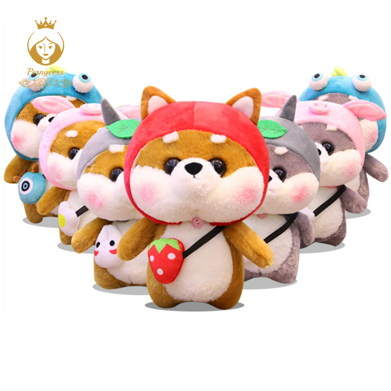 Kids Toys Holiday Gifts Creative Dressing Shiba Inu Soft Doll Brave 1pcs 20cm/35cm Cute Shiba Inu Plus Stuffed Toy