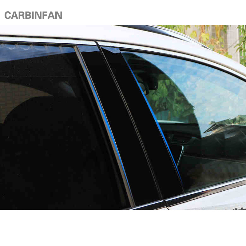FIT FOR MITSUBISHI OUTLANDER 2013-2016 year WINDOW CHROME PILLAR POST COVER 6pcs