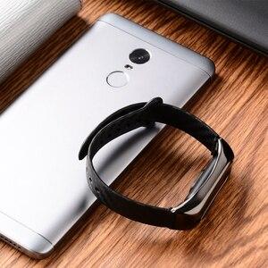 Image 3 - Ollivan Silicone Cinturino In Fibra di Carbonio per Xiaomi Mi Banda 2 Wristband Smart Accessori Per Mi Band 2 Braccialetto Miband 2 cinturino da polso