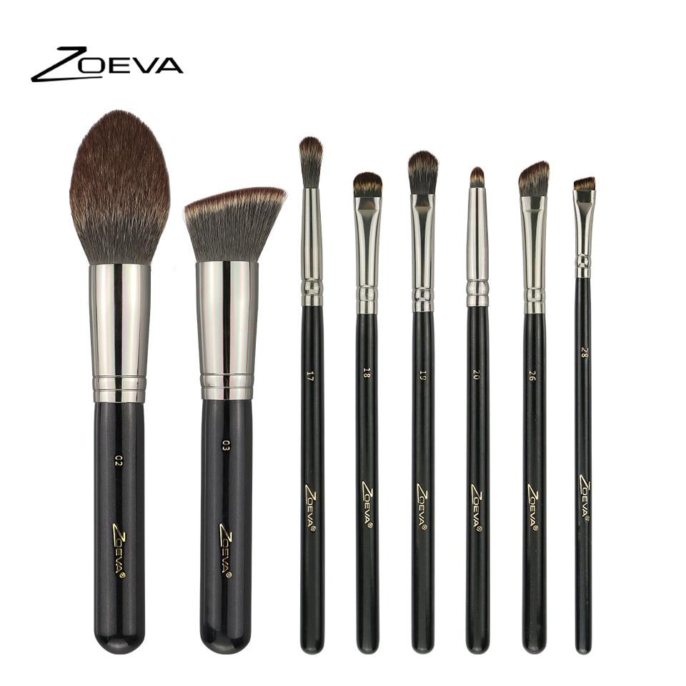 Zoeva 8Pcs Synthetic Hair Makeup Brushes Set Foundation Blush Highlight Contour Brush Eyeliner Blending Brush Nano