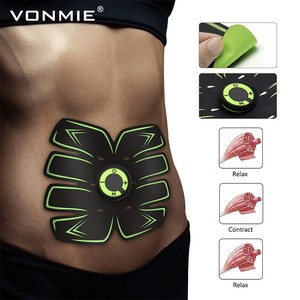Image 2 - VONMIE Electro Estimulador Muscular S5C06 Abdomen Vibrating Slimming Belt Cellulite Tens USB Rechargable Machine EMS Trainer