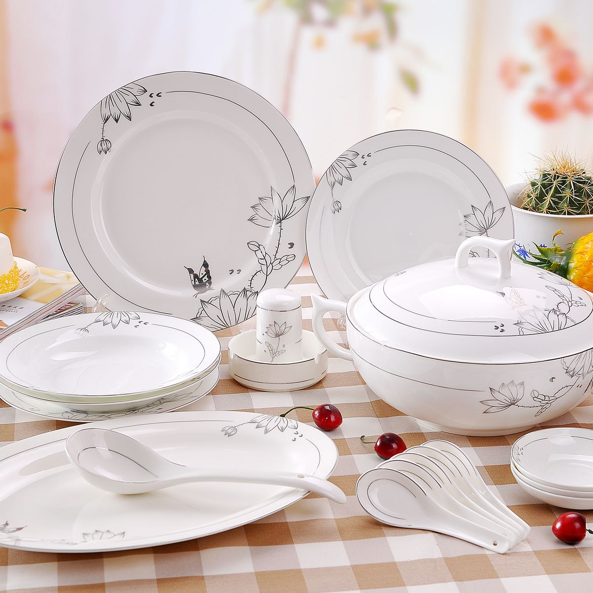 Wedding Gift Dinner Set : china dinnerware set fashion the plate ceramics bowl wedding gifts ...
