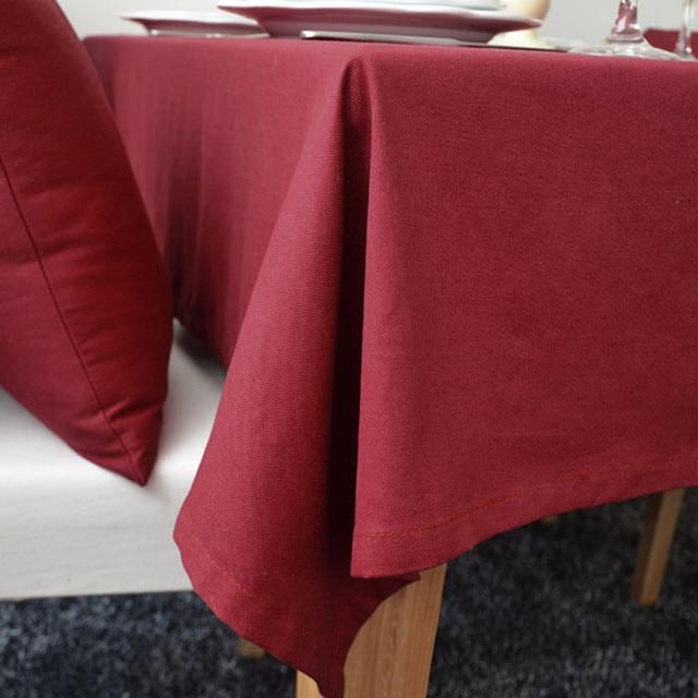 Nappes rouges de style européen | Livraison gratuite, belle qualité pour mariages, hôtel cuisine couverture de table décoration de la maison, nappe anti-poussière