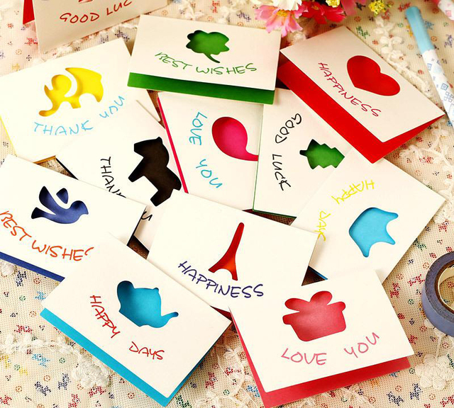 Wholesale 20pcslot design cute elf series mini greeting card wholesale 20pcslot design cute elf series mini greeting card universal wishing cards christmas card m4hsunfo