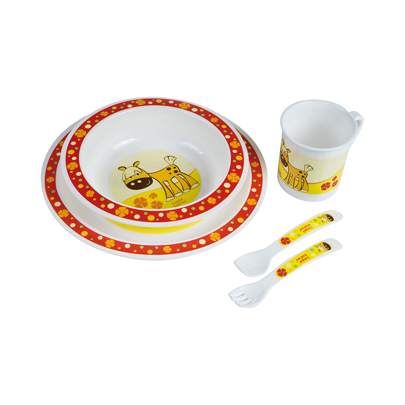Dish Canpol Babies Plastic Dining Set Red, 12 month + feedkid hot dish