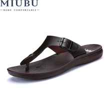 MIUBU Brand New Arrival Classic Summer Men Flip Flops Non-slide Male Slippers Comfortable Breathable Beach Shoes Hot Sales