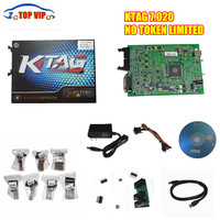 DHL Free Postage Two options 2017 Online ktag V7.020 No Tokens Limited OBD2 Manager Tuning Kit K TAG ECU Auto Car Scanner