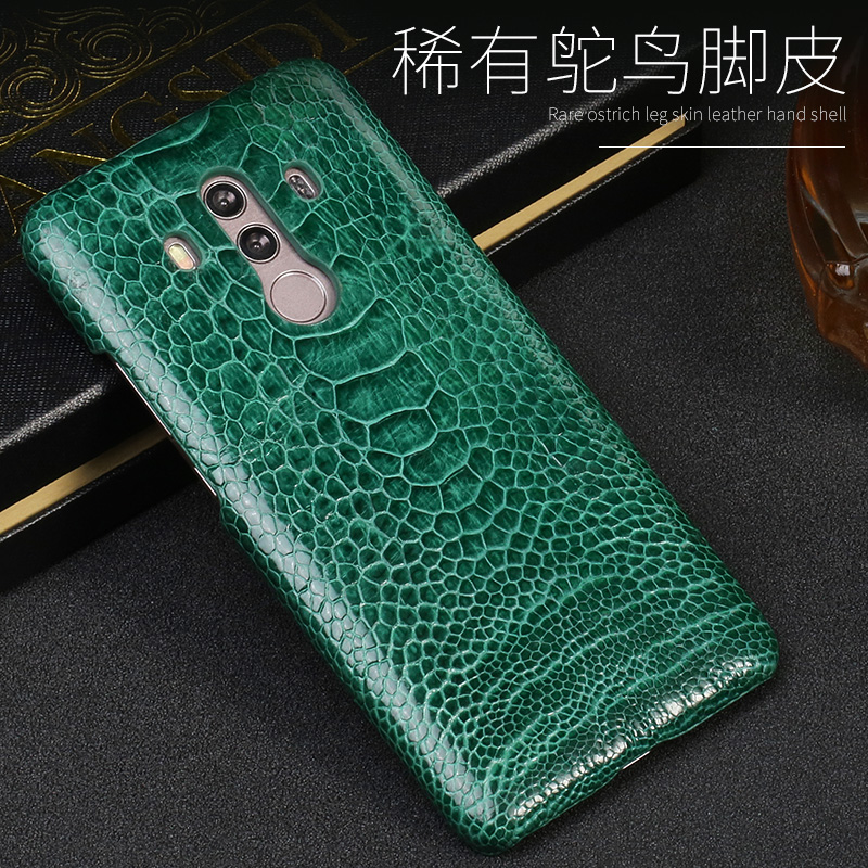 Luxury Natural Ostrich foot skin For Huawei Mate 8 9 10 Pro case Real Genuine leather Cover For P8 P9 P10 lite P Smart Nova 2S - 4