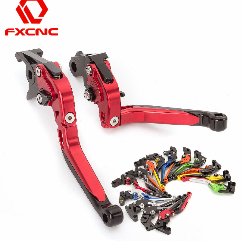 CNC Adjustable Motorcycle Folding Extendable Brake Clutch Levers For Yamaha YZF R1 R1M R1S 2015 2016 2017 YZF R6 2017 Levers Set billet alu folding adjustable brake clutch levers for motoguzzi griso 850 breva 1100 norge 1200 06 2013 07 08 1200 sport stelvio