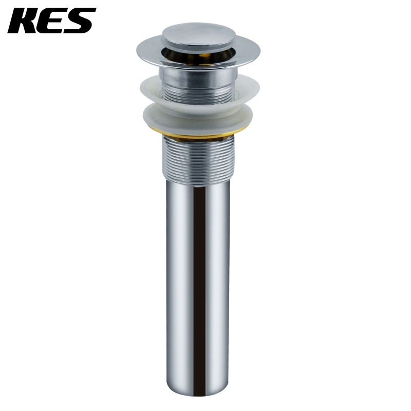 KES S2006 Bathroom Vanity Sink Drain Pop Up Stopper withwithout Overflow Chromein Drains from