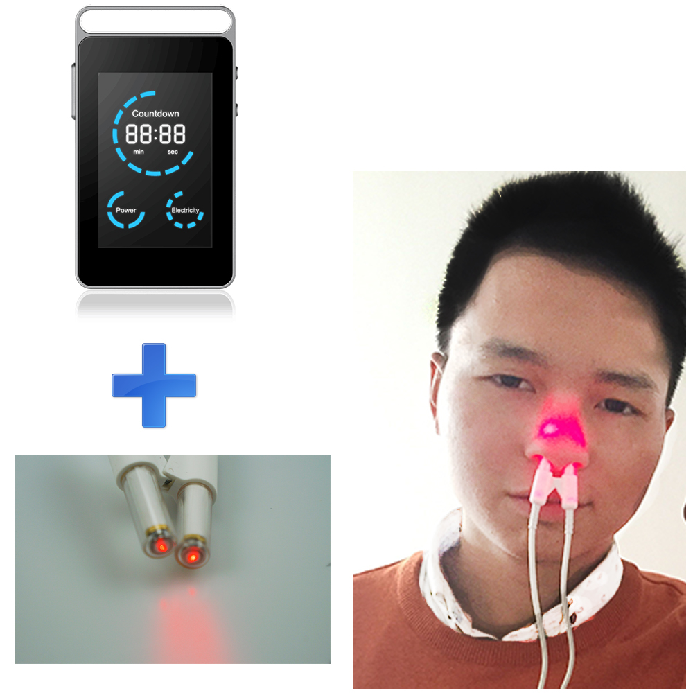Advanced smart Nose rhinitis sinusitis cure and Prevention of cardiovas intranasal laser digital low level laser therapy device smart infrared laser therapy low level laser physical acupuncture equipment