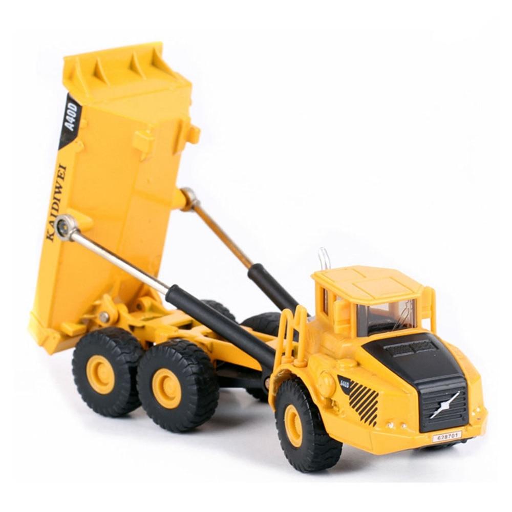 Alloy car truck model 1 87 scale transport truck model toy six wheels loader model