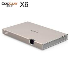 Coolux X6/X6S мини светодиодный проектор мини projetor привело proyector привело DLP андроид проектор 3D WI-FI bulethooth HiFi Динамик проектор
