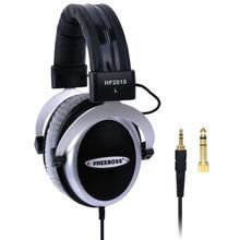 Freeboss hf2010 hi fi fone de ouvido semi aberto sobre orelha 3.5 6.3 plug ajustável e peso leve bandana fones de ouvido de alta fidelidade