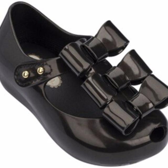 8ccbc2314 Mini Melissa 2018 Girls Jelly Sandals Triple Bow Antiskid Children Sandals  Melissa Bow Jelly Princess Shoes