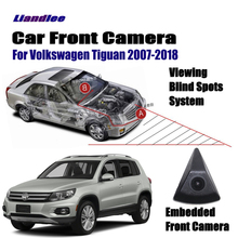 Liandlee Front View Camera Car Screen Monitor 4.3 Logo Embedded Cigarette Lighter For Volkswagen VW Tiguan 2007-2018 10 12 15