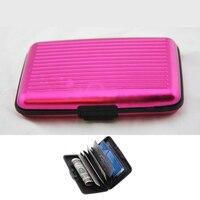 Wholesale 10* Pink AlumInum Wallet CRedit Card Holder - FRID Blocking