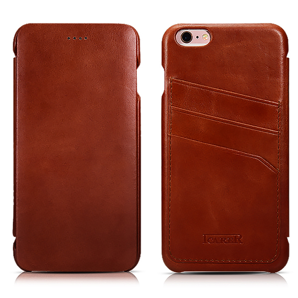 Asli ICARER Pemegang Kartu Kulit Asli Kasus Untuk iPhone6 6 s - Aksesori dan suku cadang ponsel - Foto 1