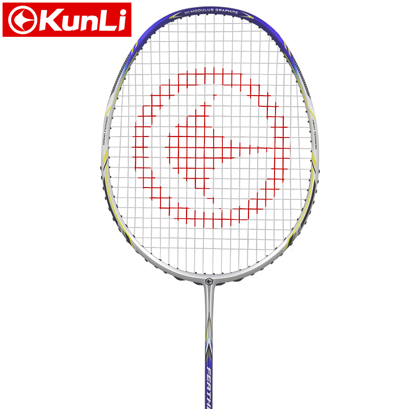 original KUNLI official badminton racket 5U 80g Feather K310  full carbon professional feather racket Ultra light attack racket