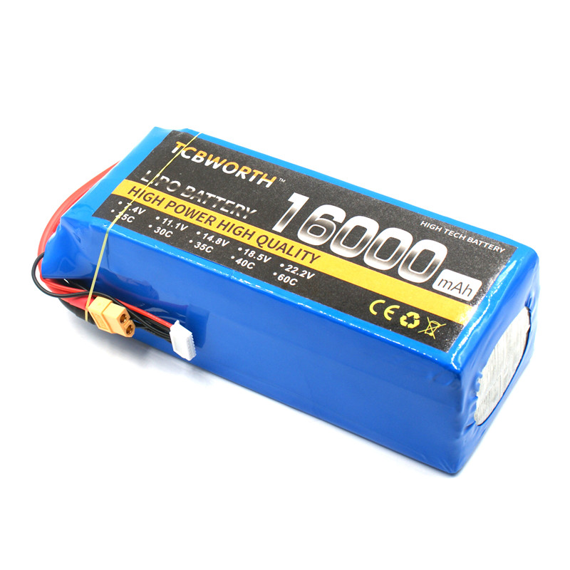 RC Lipo battery 4S 14.8V 16000mAh 25C for RC Airplane Whirlybird Drone Car Boat Batteria AKKU