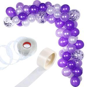 Image 1 - METABLE 100 Stück Ballon Girlande Kit Ballon Bogen Girlande für Hochzeit Geburtstag Party Dekorationen (Weiß Lila)
