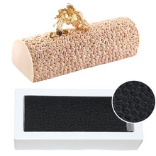 Silicone Coffee Bean Shape Effect Texture Mat Baking Sheet Cake Molds Twinkie Mousse Desserts Bakeware Pan Mold Tools