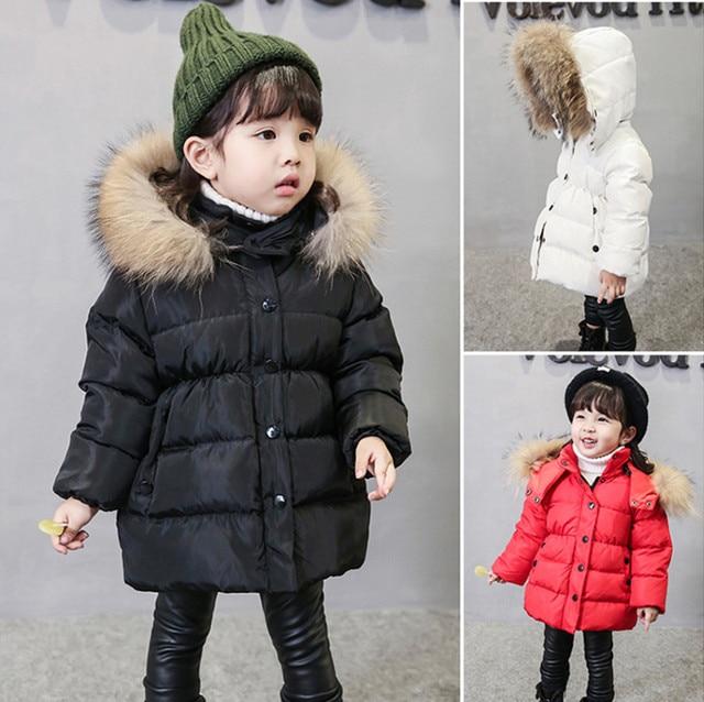 a633bc90a Boys Winter Coats Baby Girls Jacket Kids Warm Outerwear Children ...