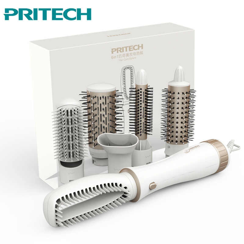 Professional Hair Curler PRITECH Anion Dryer Hair Comb Electric Blow Brush Styling Tools Set Hairdryer Hair Straightener 220V