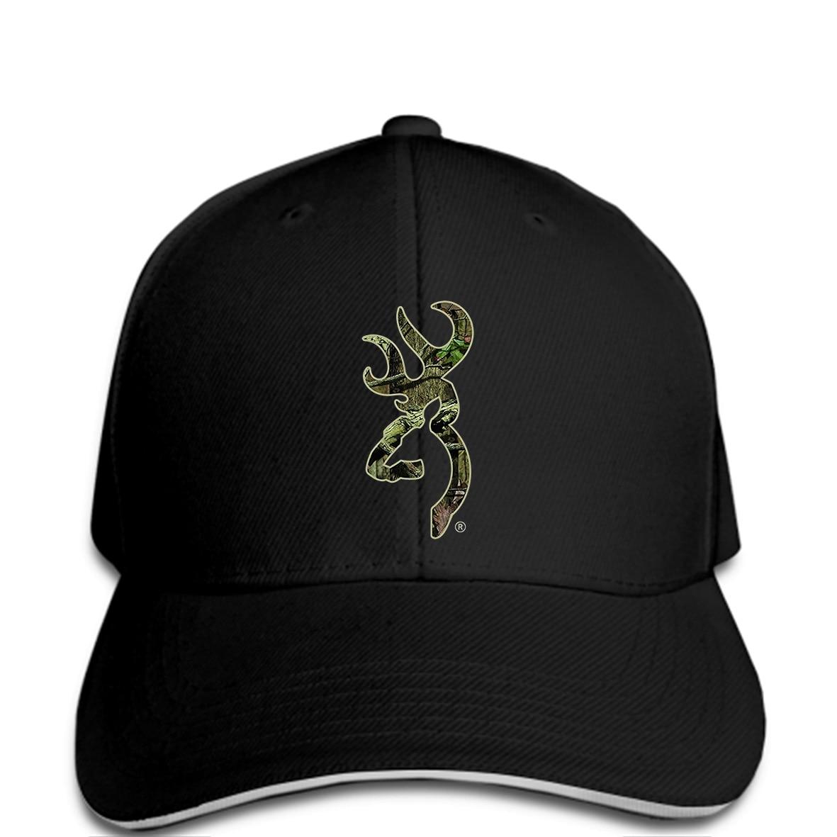 Baseball cap Browning Camo Buckmark Men Hat Funny Black