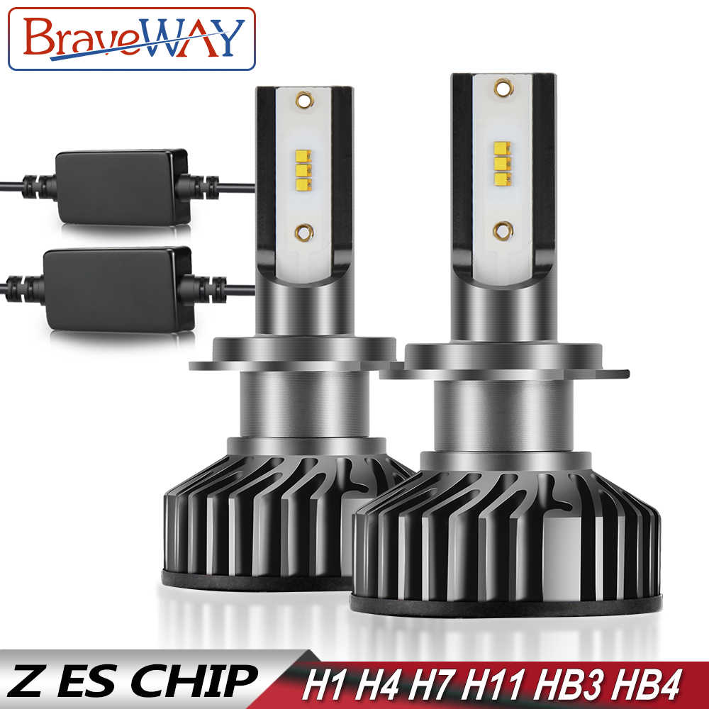 BraveWay 12V H7 LED Canbus H4 Lamps H1 H8 H9 H11 LED Light Bulbs HB3 HB4 9005 9006 Headlights for Car Motorcycle with Z ES Chip