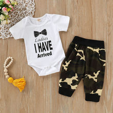 Summer Cool Baby Outfit For Boy Girl Fashion Letter Clothes + Casual Print Pants 2pcs Newborn Baby Clothes Set For Boy Girl(China)