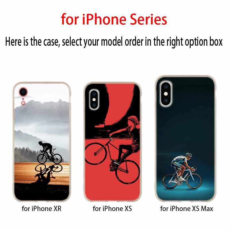 دراجة الدراجات لينة غطاء إطار هاتف محمول آيفون 11 برو 2019 4 5 5s SE 6 6 S 7 8 Plus x XR XS ماكس Telefoonhoesjes eتوي Funda حالات