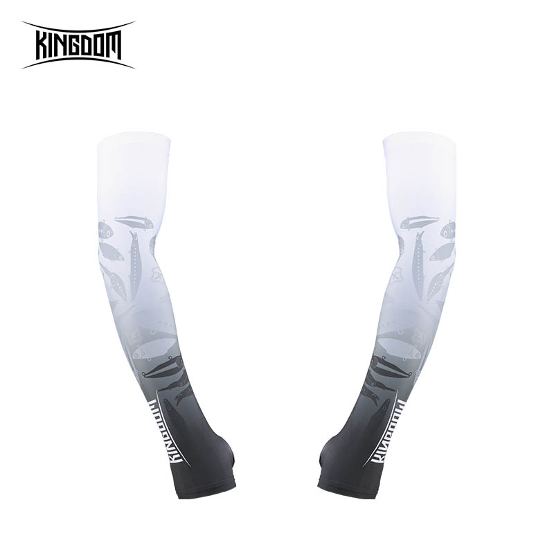 Kingdom 1 PairSet Ice Fishing Arm Sleeves UV Sun Outdoor Protection Breathable Men Woman Arm Sleeves For Sports Fishing Apparel