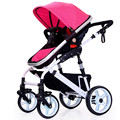 High Landscape Baby Stroller Infant Four Hands Trolley Aluminum Kids Strollers Extra large Four Wheel Stroller Wholesale