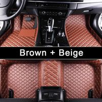 Custom Car Floor Mat For Ford Land Rover Lexus Mazda Nissan Honda Kia BMW Leather 3D Car Floor Mats Auto Interior Accessories