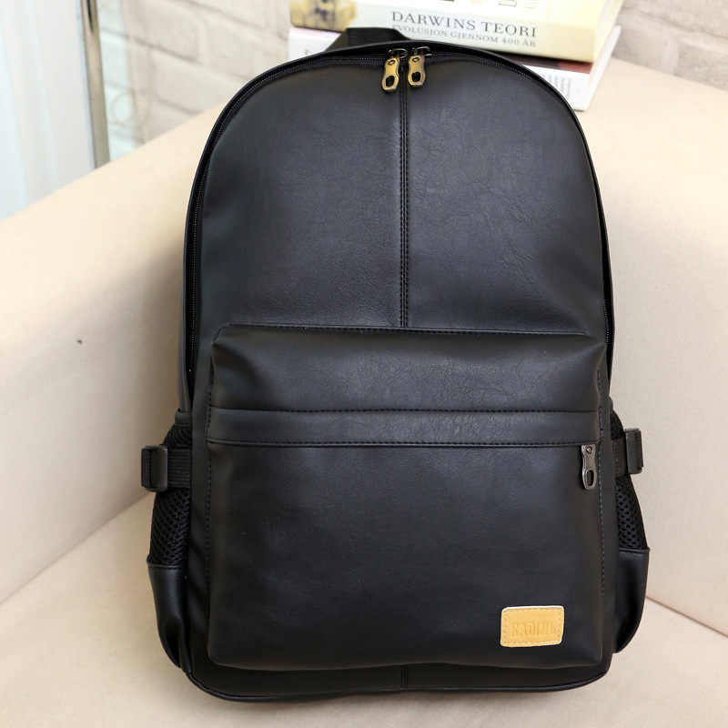 New Travel Backpack Korean Women Female Rucksack Leisure Student School bag  Soft PU Leather Women Bag 72e7c87ac9cbc