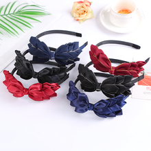 CXADDITIONS Women Glitter Buffalo Phoenix Tail Side Bow Tie Headband Satin Hairbands Headwrap Hair Accessories Girl