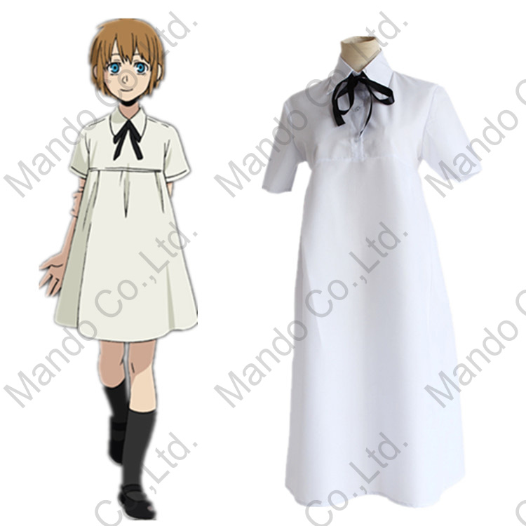 Anime GANGSTA Nina Cosplay Costume Girls White Fancy Dress Women Halloween Cosplay Party Outfit