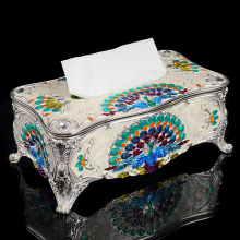 European-style home ktv tissue box fashion retro restaurant metal creative